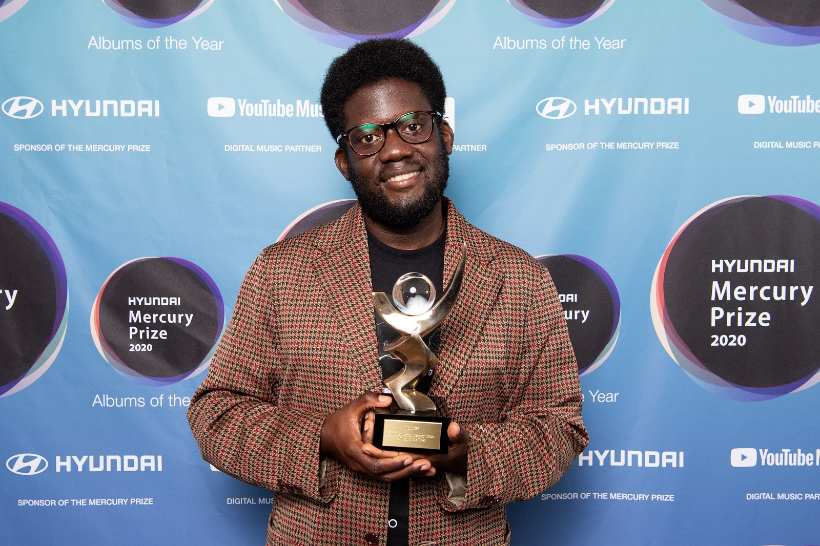 Michael wins the 2020 Hyundai Mercury Prize for Album of the Year