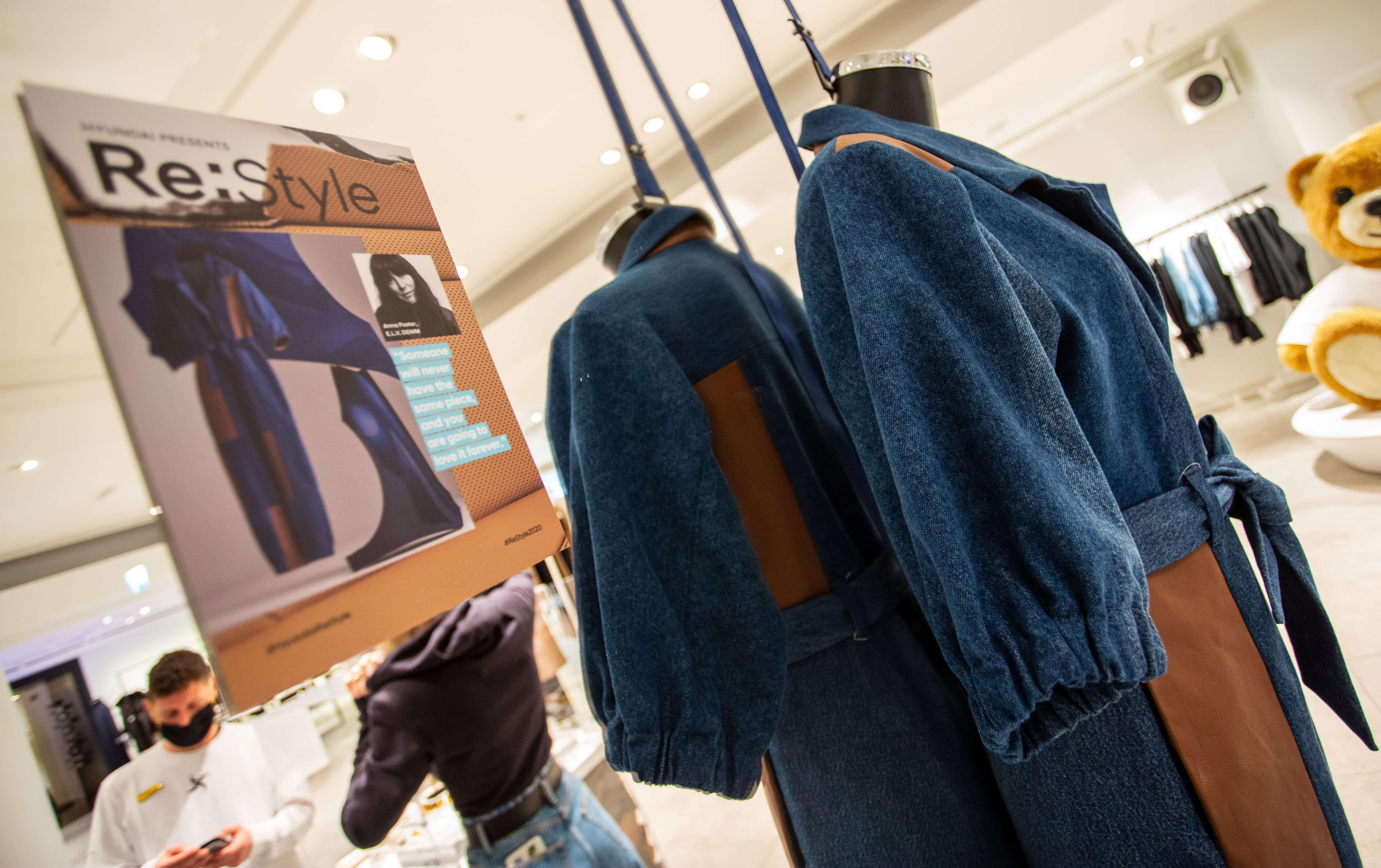 Hyundai unveils sustainable fashion range at Selfridges.
