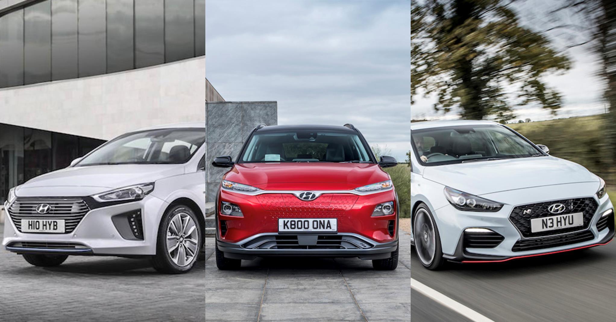 Hyundai diverse car range - IONIQ, KONA, i30N